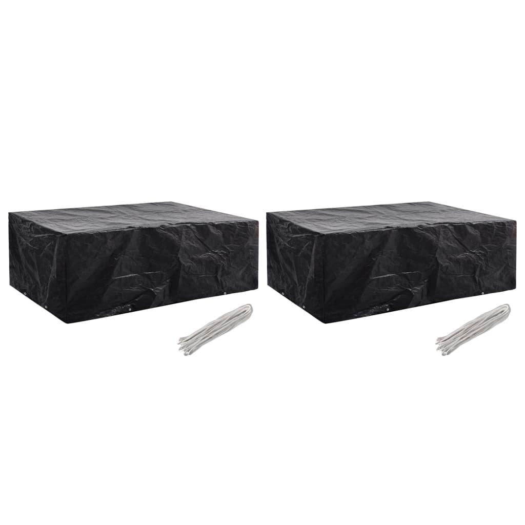 vidaXL Ochranné obaly na záhradný nábytok 2 ks 242x162x100 cm 8 očiek