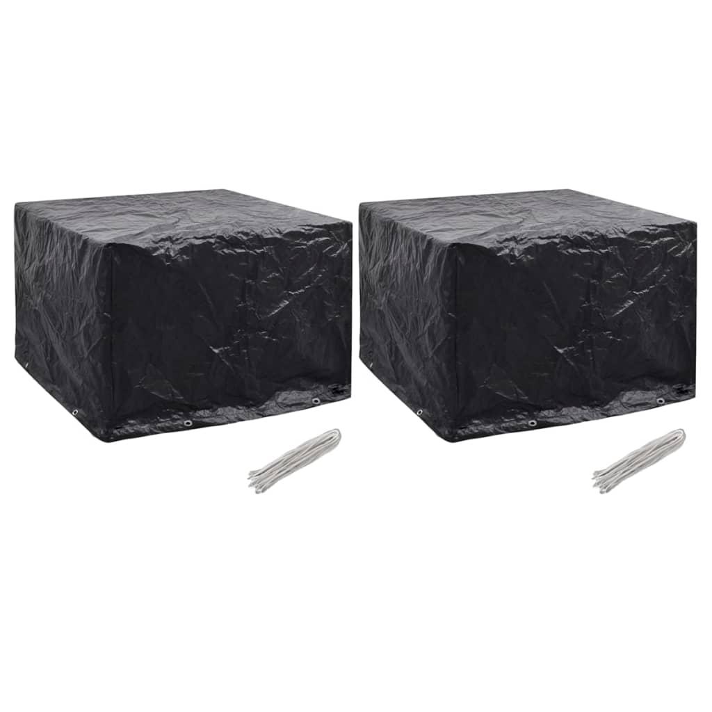 vidaXL Ochranné obaly na záhradný nábytok 122x112x98 cm 8 očiek
