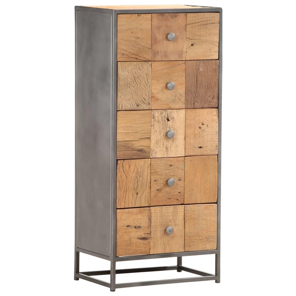 vidaXL Skrinka so zásuvkami 45x30x100 cm, recyklovaný masív