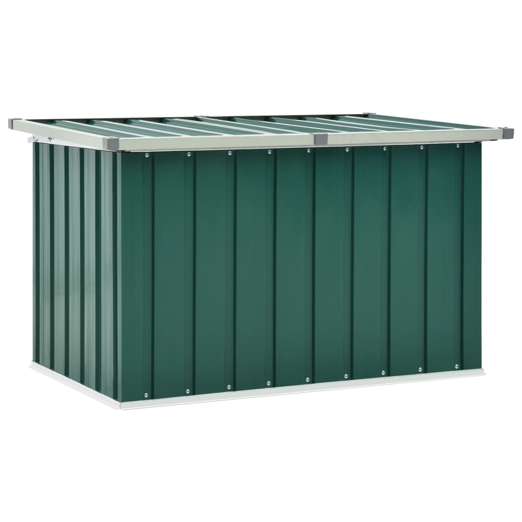 vidaXL Záhradný úložný box zelený 109x67x65 cm