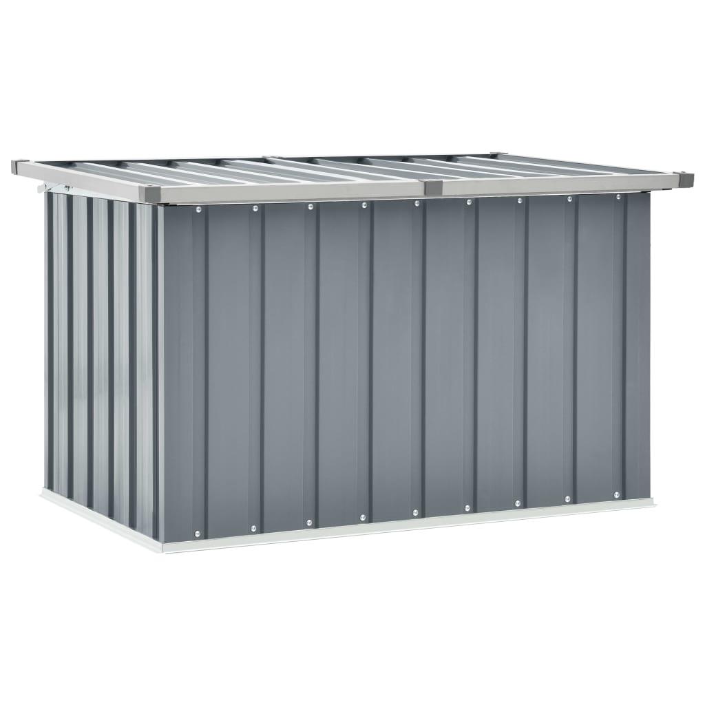vidaXL Záhradný úložný box sivý 109x67x65 cm