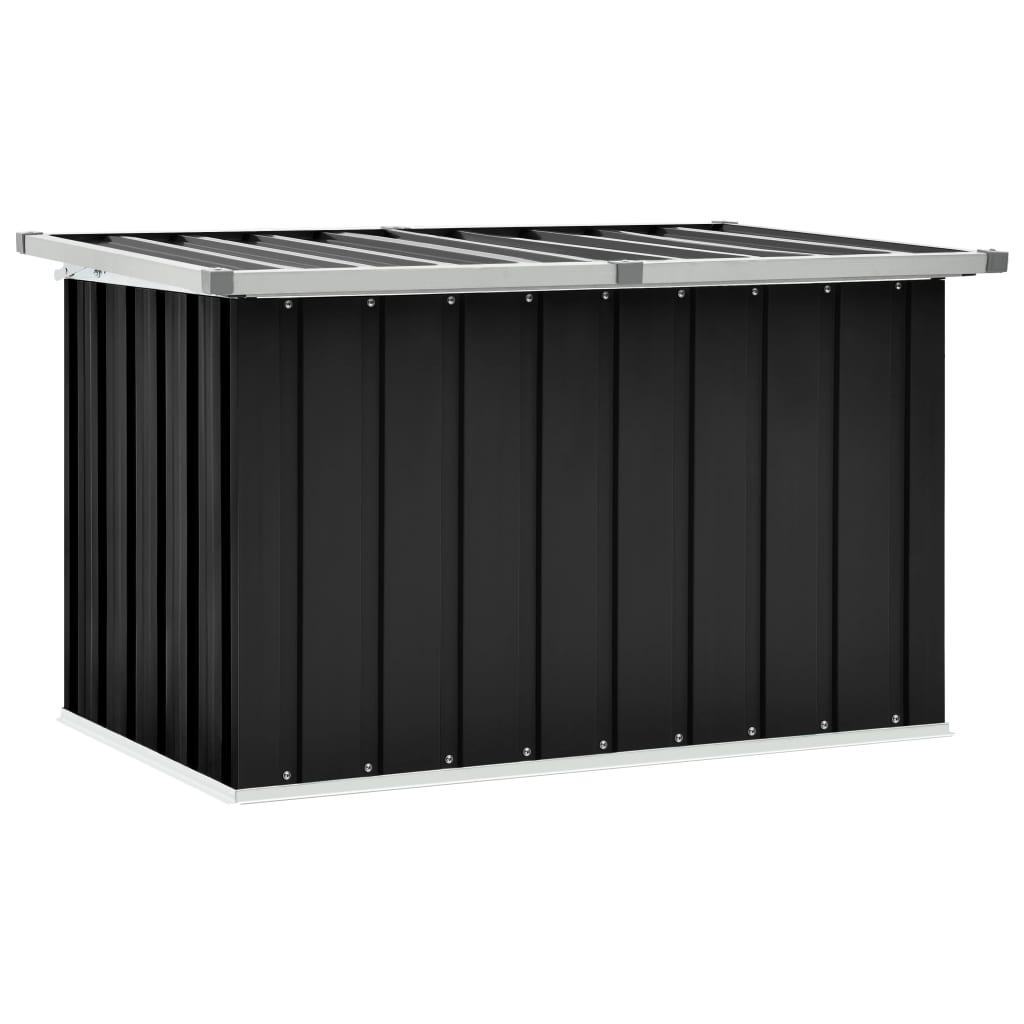 vidaXL Záhradný úložný box antracitový 109x67x65 cm