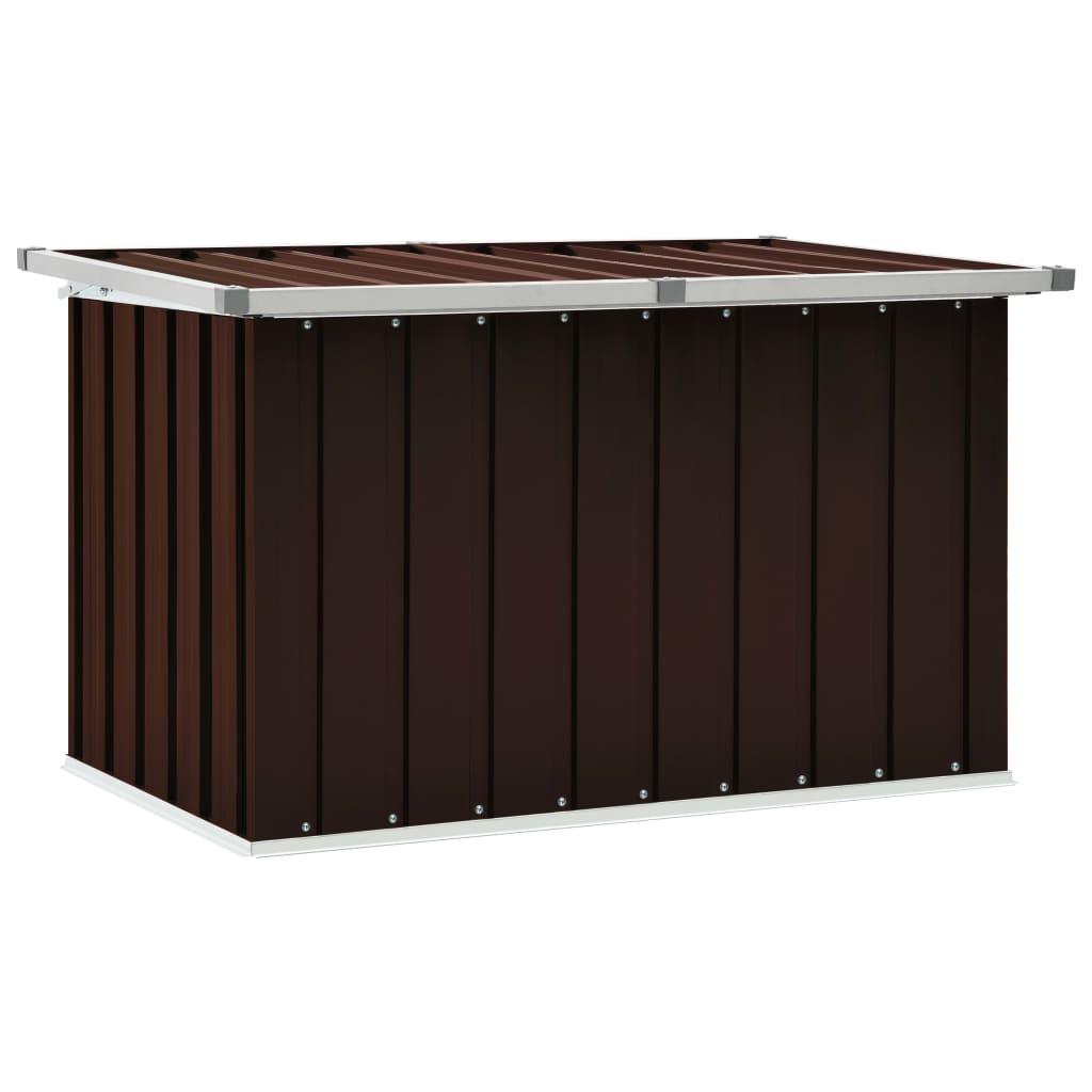 vidaXL Záhradný úložný box hnedý 109x67x65 cm