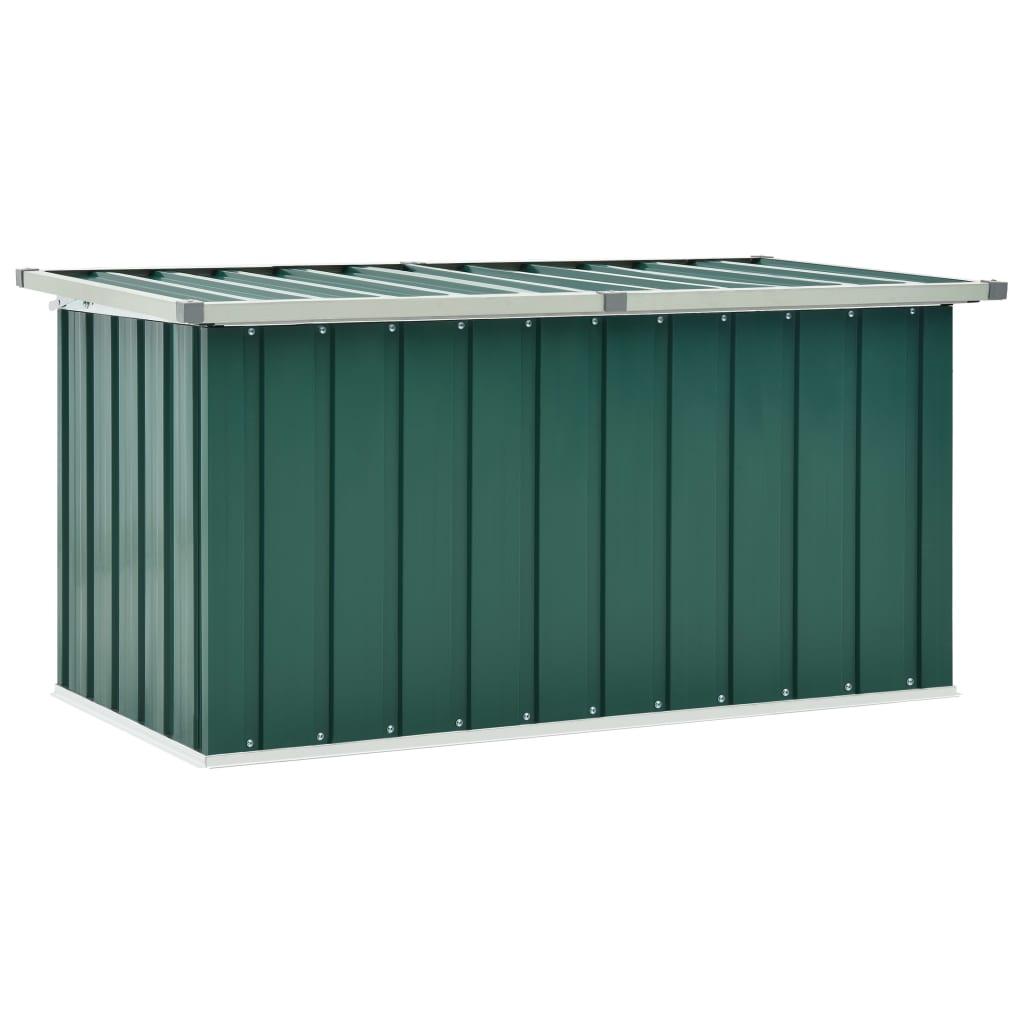 vidaXL Záhradný úložný box zelený 129x67x65 cm