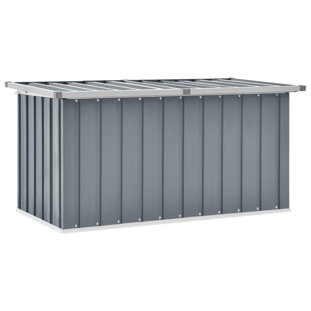 vidaXL Záhradný úložný box sivý 129x67x65 cm