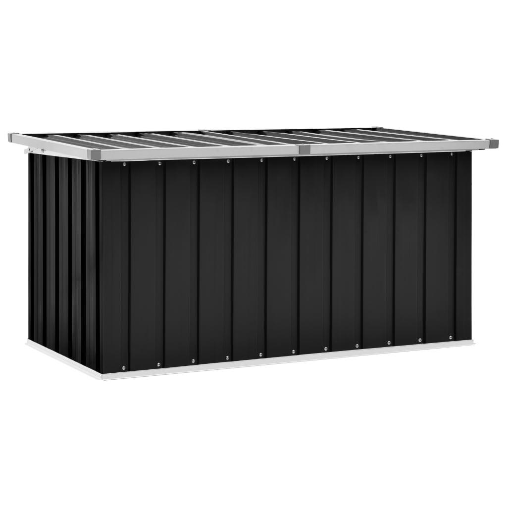 vidaXL Záhradný úložný box antracitový 129x67x65 cm