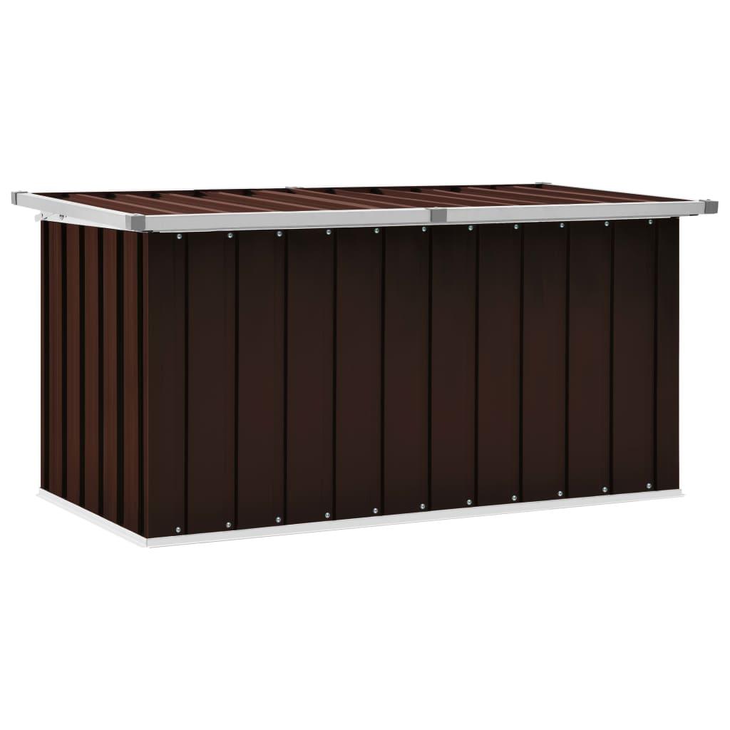 vidaXL Záhradný úložný box hnedý 129x67x65 cm