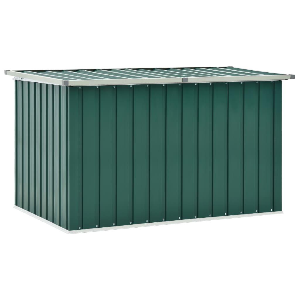 vidaXL Záhradný úložný box zelený 149x99x93 cm