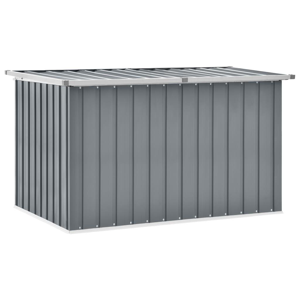 vidaXL Záhradný úložný box sivý 149x99x93 cm