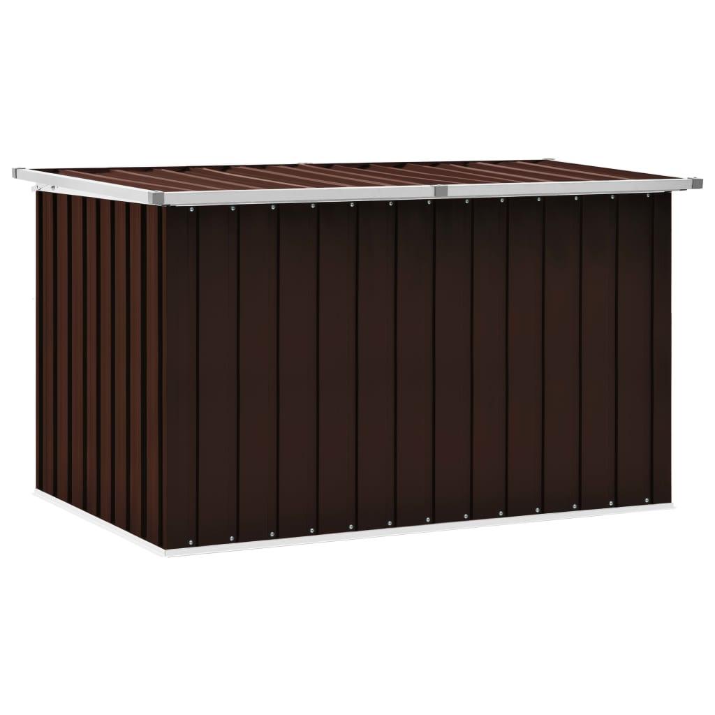 vidaXL Záhradný úložný box hnedý 149x99x93 cm