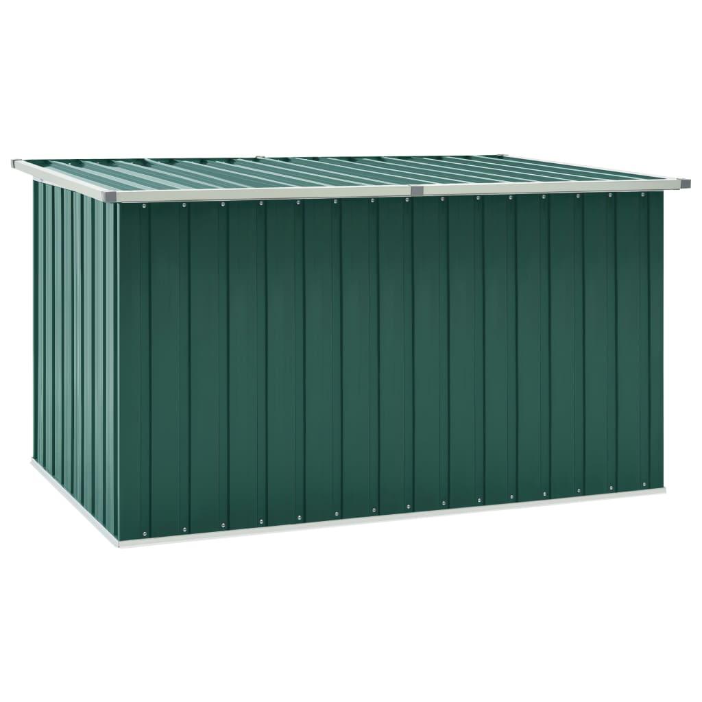 vidaXL Záhradný úložný box zelený 171x99x93 cm