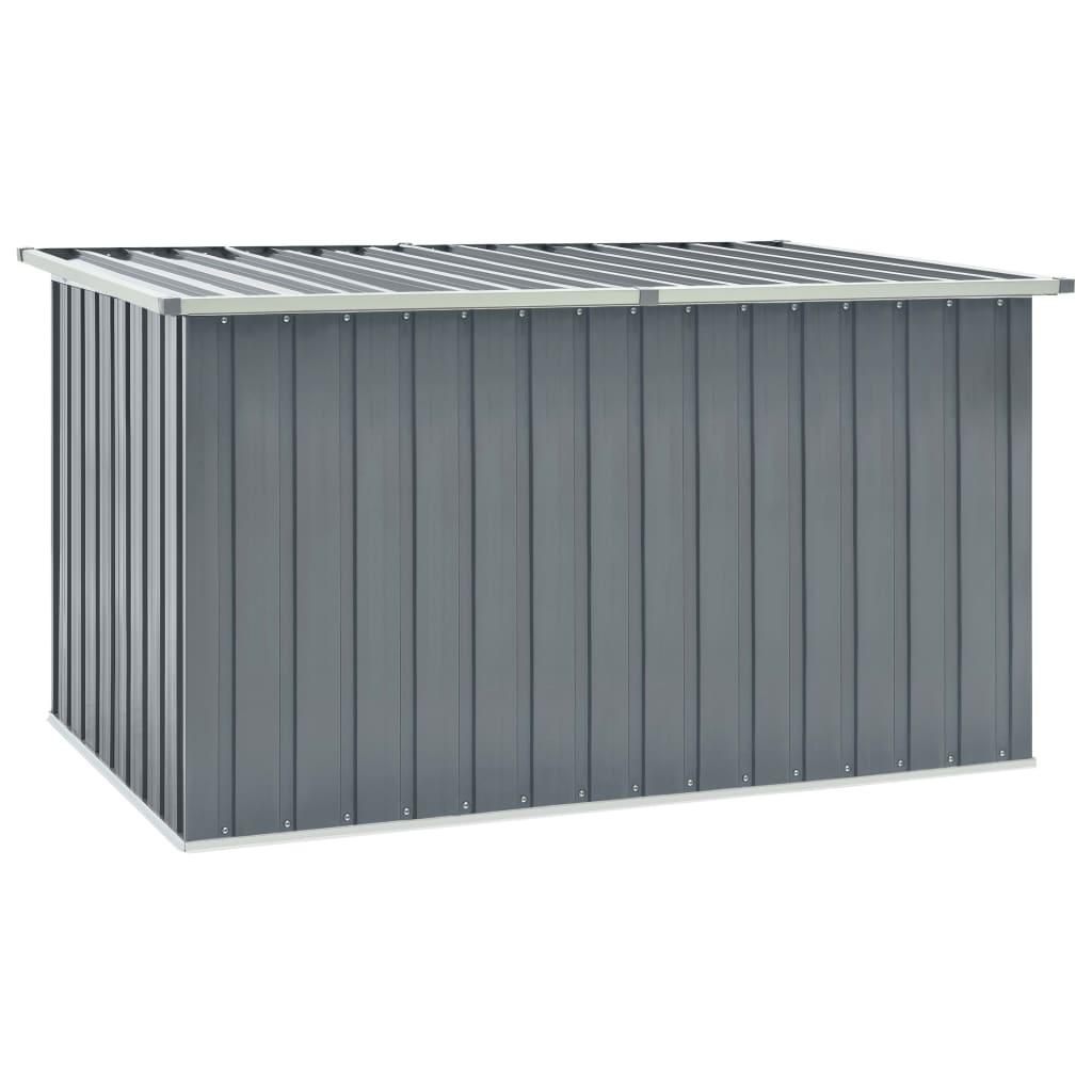 vidaXL Záhradný úložný box sivý 171x99x93 cm