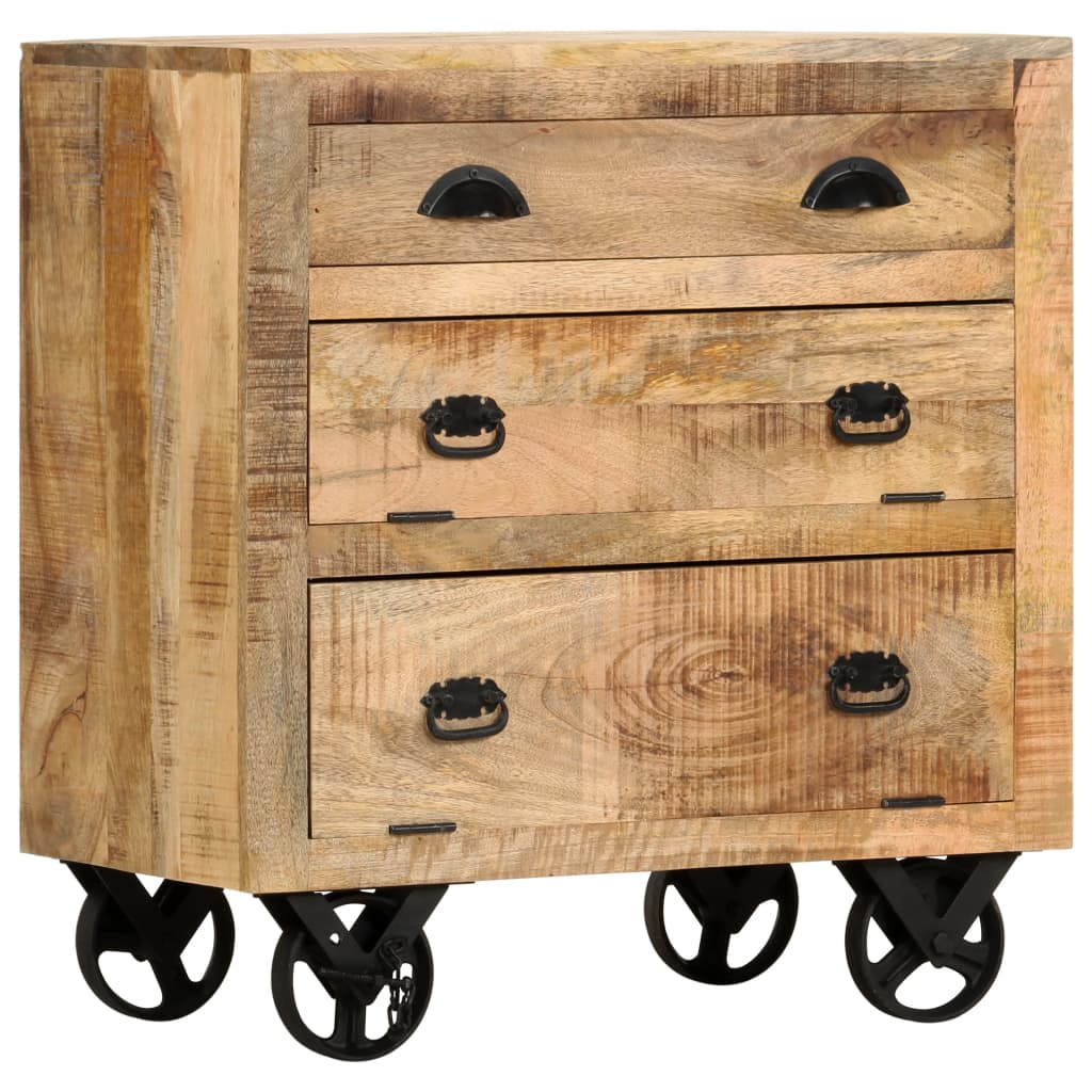 vidaXL Bočná skrinka 70x40x75 cm masívne mangovníkové drevo
