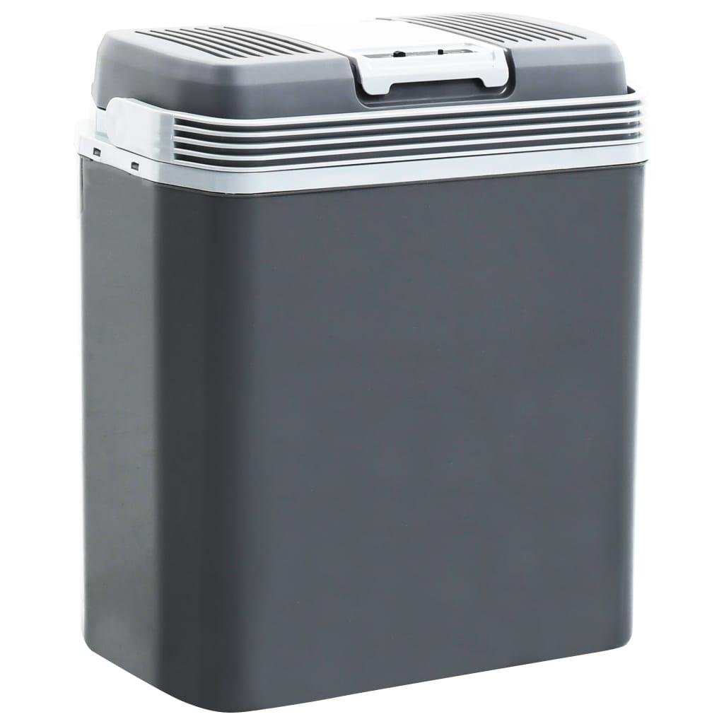 vidaXL Prenosný termoelektrický chladiaci box 24 l 12 V 230 V A +++