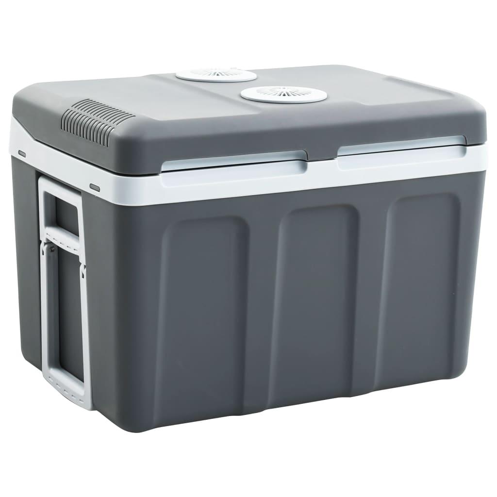 vidaXL Prenosný termoelektrický chladiaci box 45 l 12 V 230 V A ++