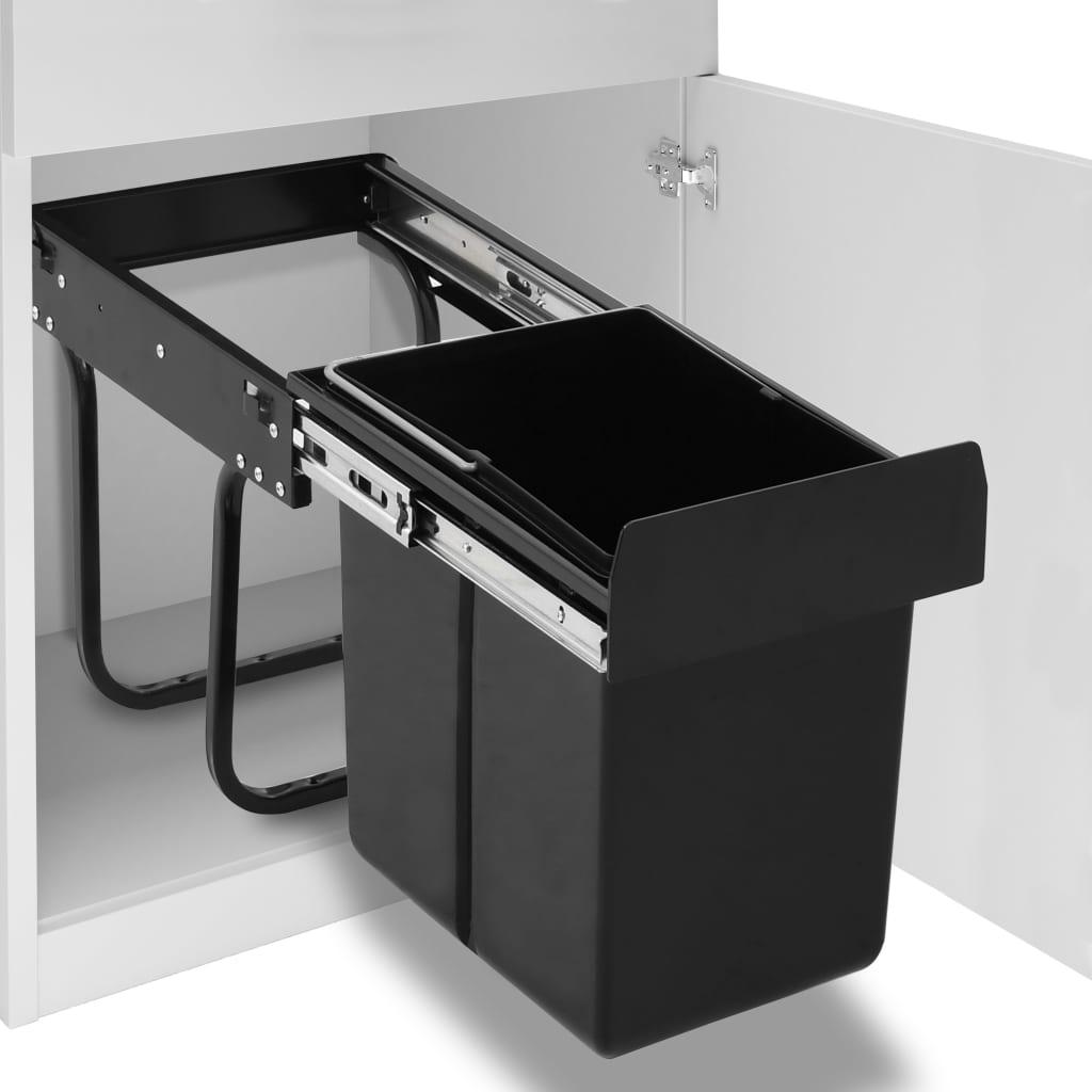 vidaXL Vysúvací smetný kôš do kuchynskej skrinky pomalé sklápanie 20 l