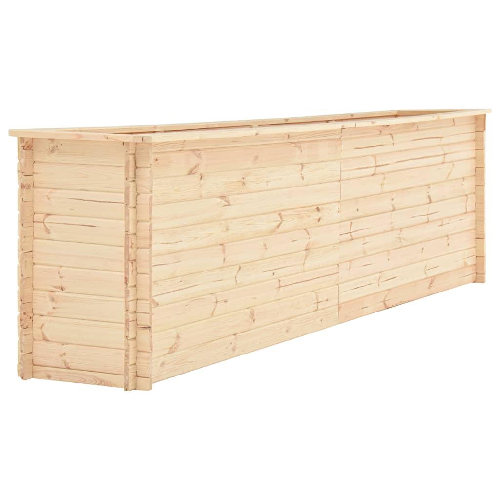vidaXL Záhradný kvetináč 300x50x80,5 cm, FSC borovicové drevo 19 mm