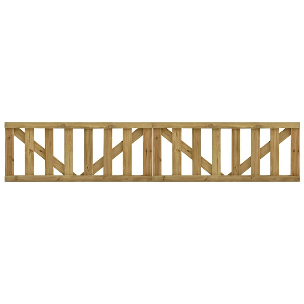 vidaXL Latkové záhradné bránky 2 ks, impregnovaná borovica 150x60 cm