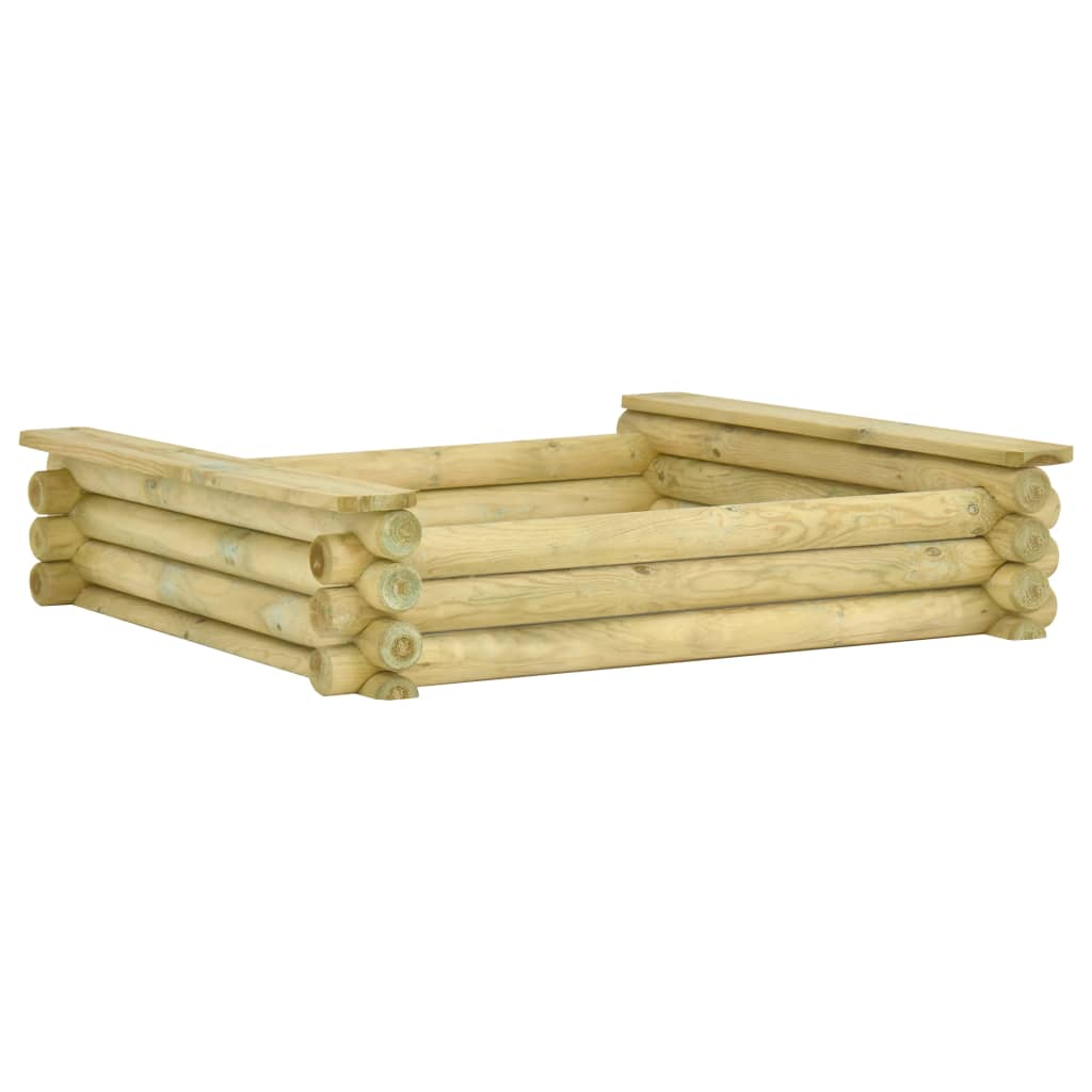 vidaXL Pieskovisko 120x120x27 cm impregnované borovicové drevo