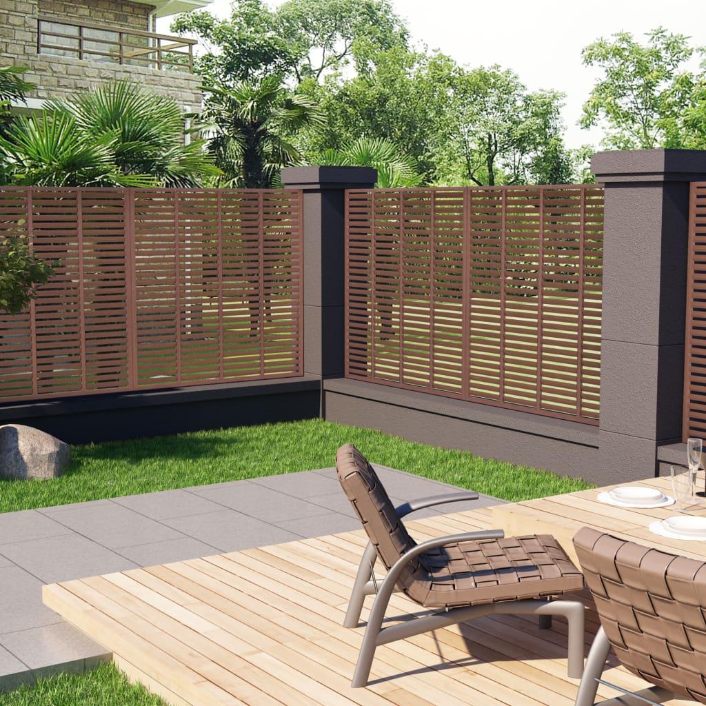 vidaXL Mriežkový plot hnedý 170x170 cm WPC