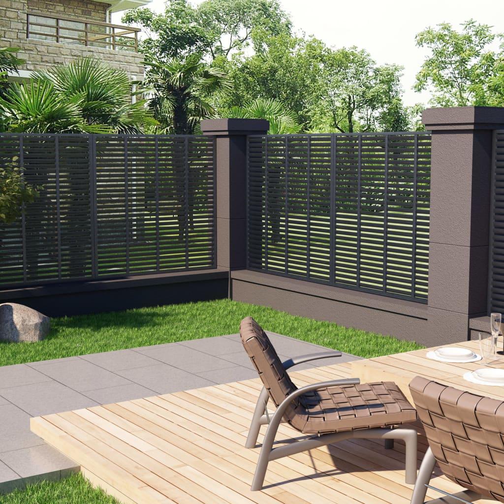 vidaXL Mriežkový plot sivý 170x170 cm WPC