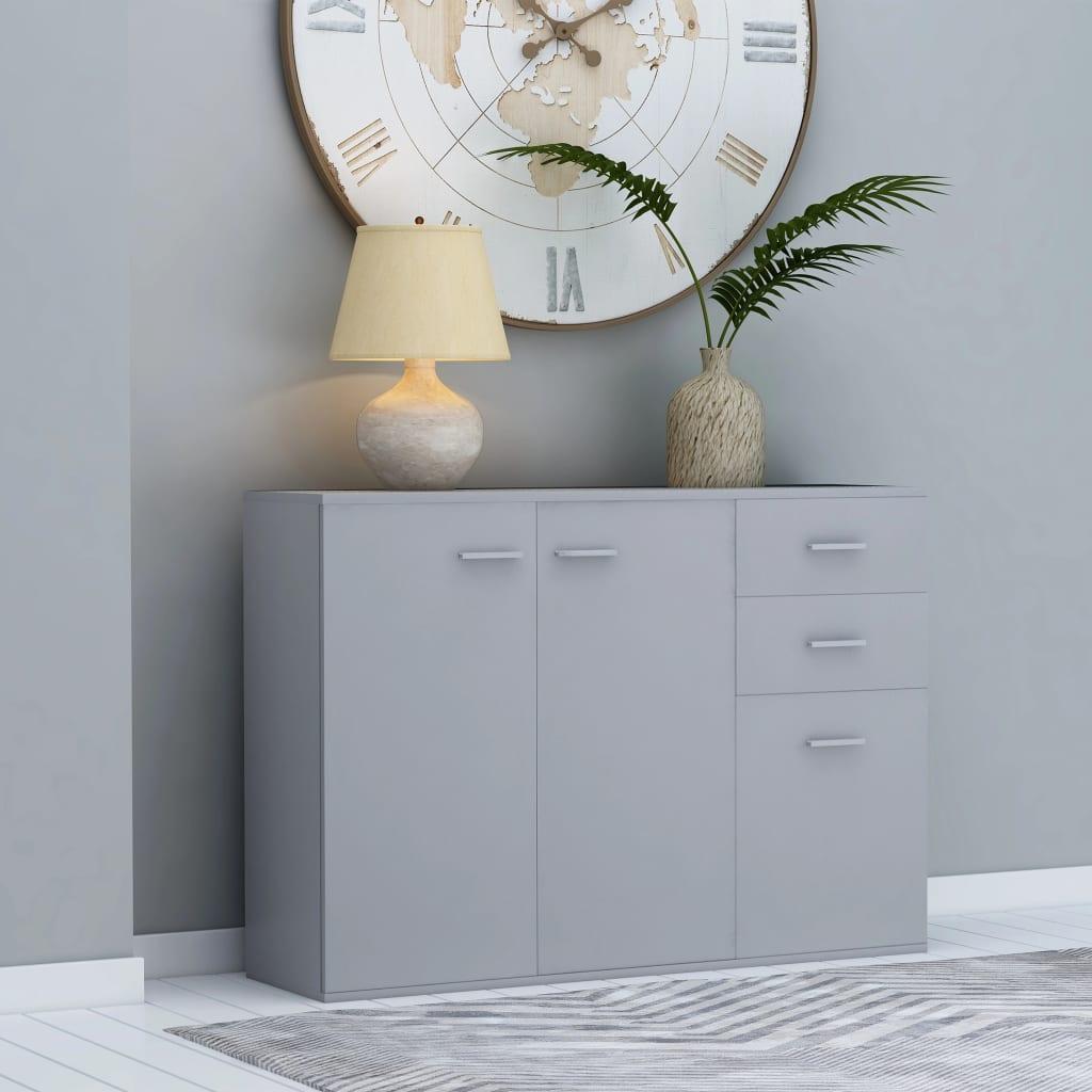 vidaXL Komoda, sivá 105x30x75 cm, drevotrieska