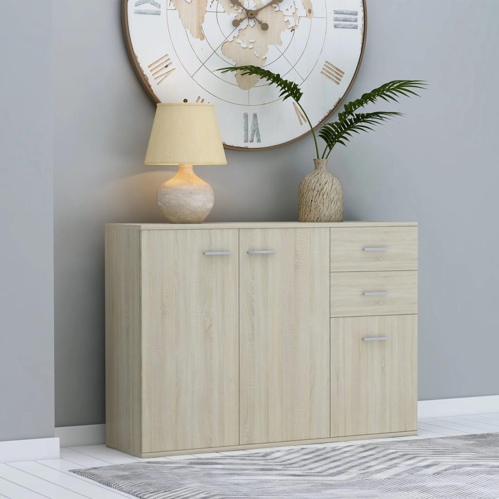 vidaXL Komoda, dub sonoma 105x30x75 cm, drevotrieska