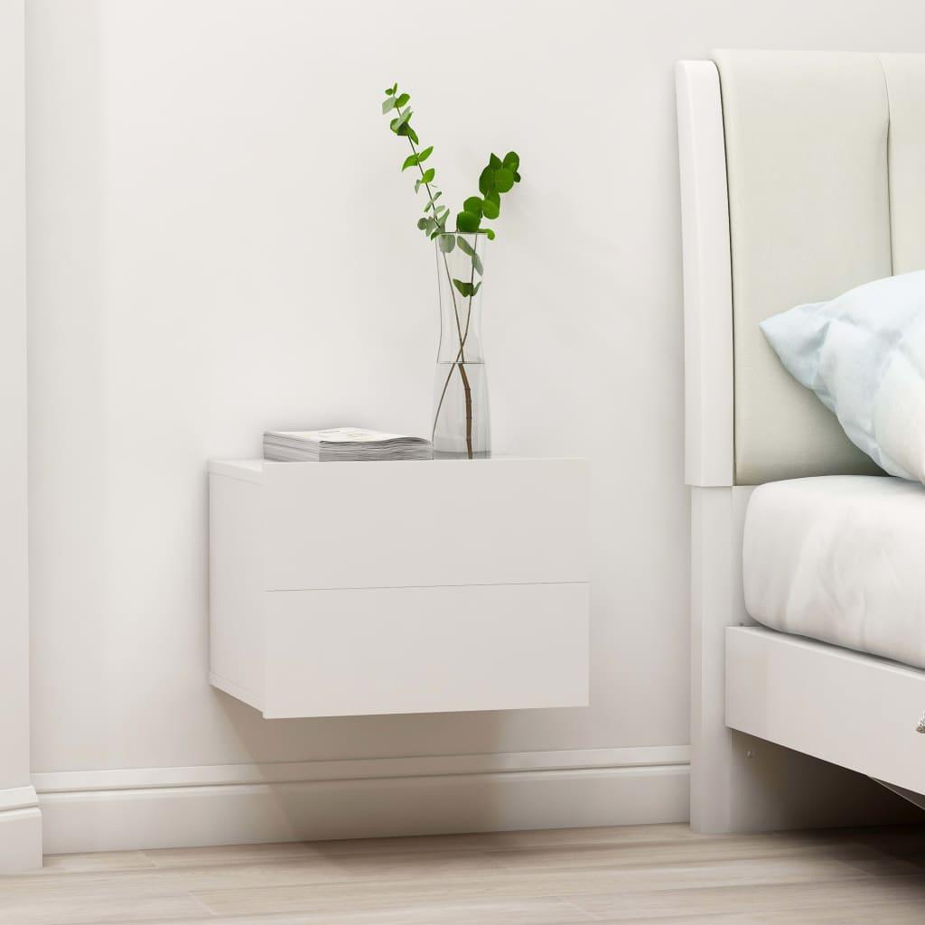 vidaXL Nočný stolík, biely 40x30x30 cm, drevotrieska