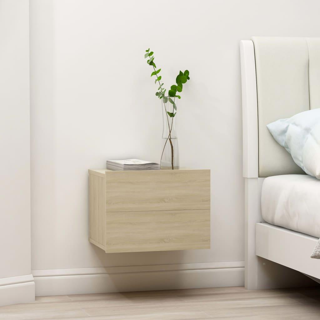 vidaXL Nočné stolíky 2 ks, dub sonoma 40x30x30 cm, drevotrieska