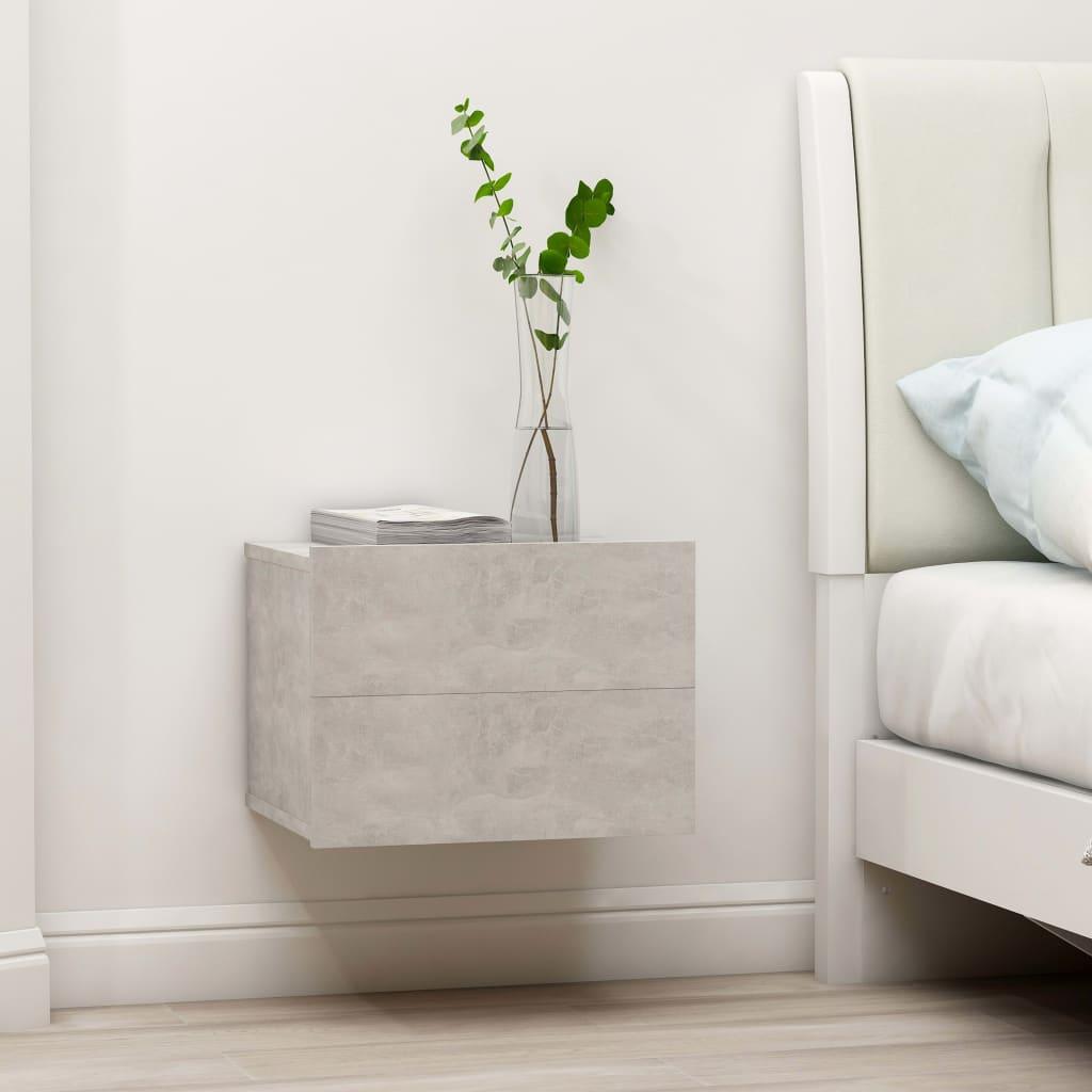 vidaXL Nočný stolík, betónovo sivý 40x30x30 cm, drevotrieska