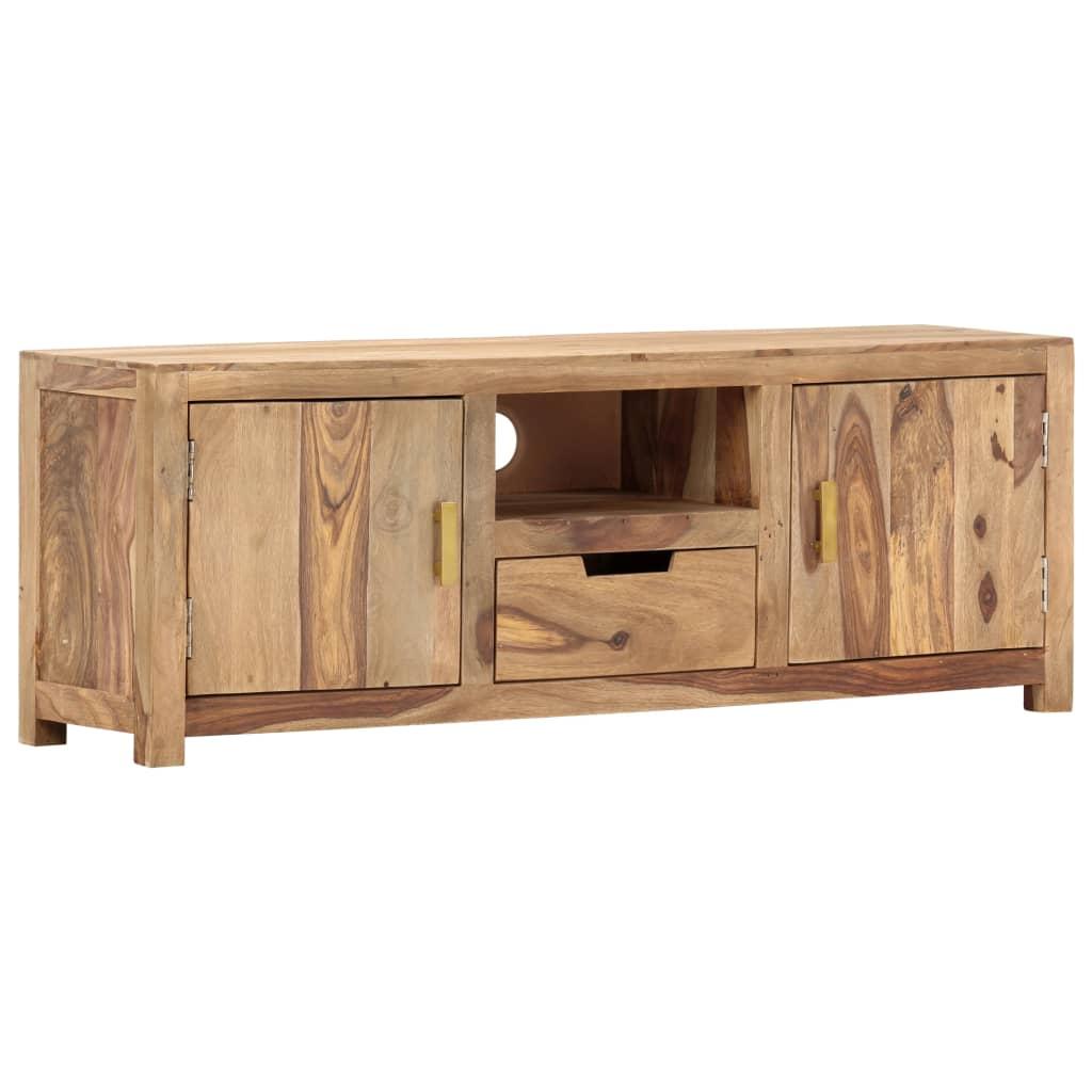 vidaXL TV skrinka 118x29x42 cm masívne sheeshamové drevo