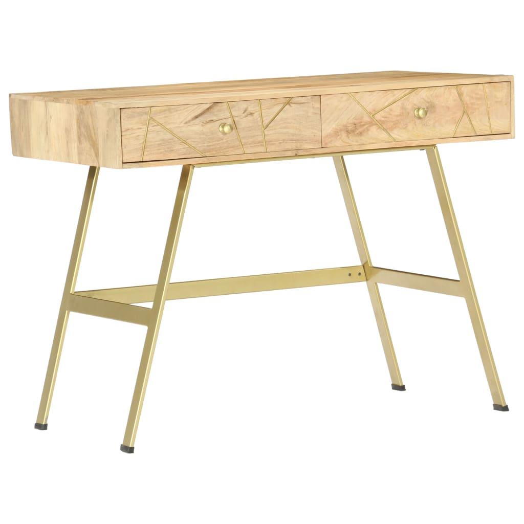 vidaXL Písací stôl so zásuvkami 100x55x75 cm masívne mangovníkové drevo