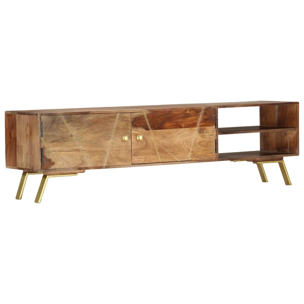 vidaXL TV skrinka 140x30x40 cm masívne sheeshamové drevo