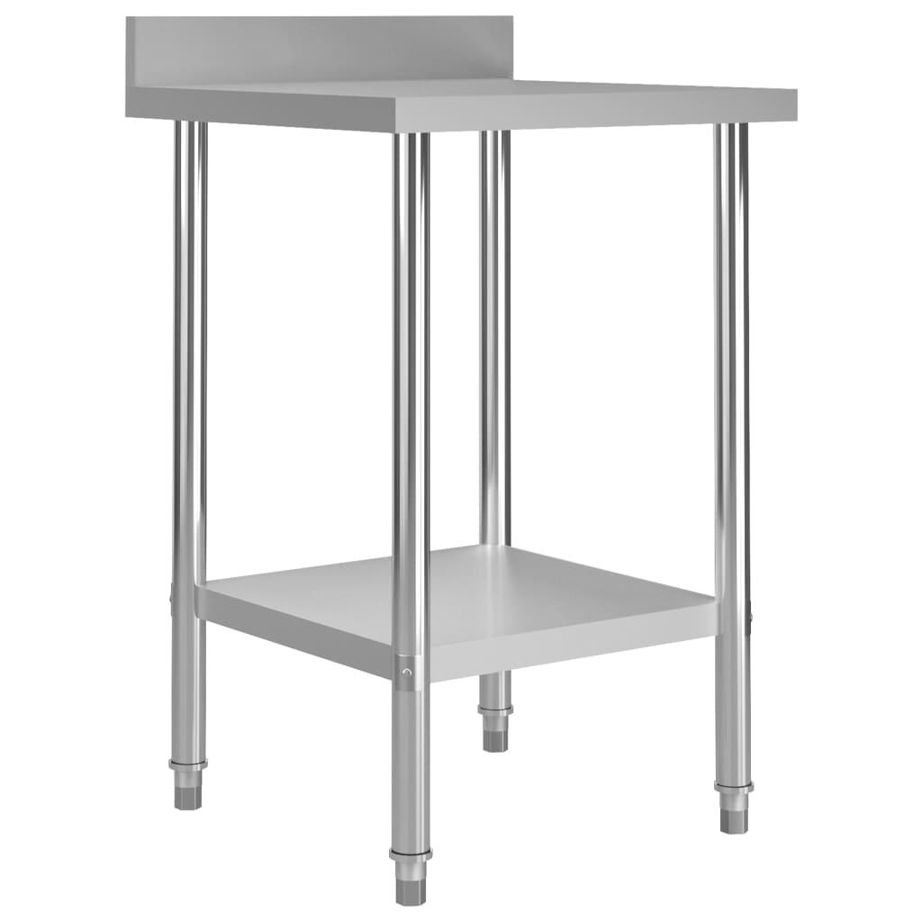 vidaXL Kuchynský pracovný stôl, prístenný 60x60x93 cm, oceľ