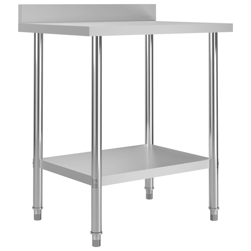 vidaXL Kuchynský pracovný stôl, prístenný 80x60x93 cm, oceľ
