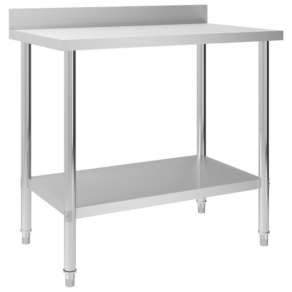 vidaXL Kuchynský pracovný stôl, prístenný 100x60x93 cm, oceľ