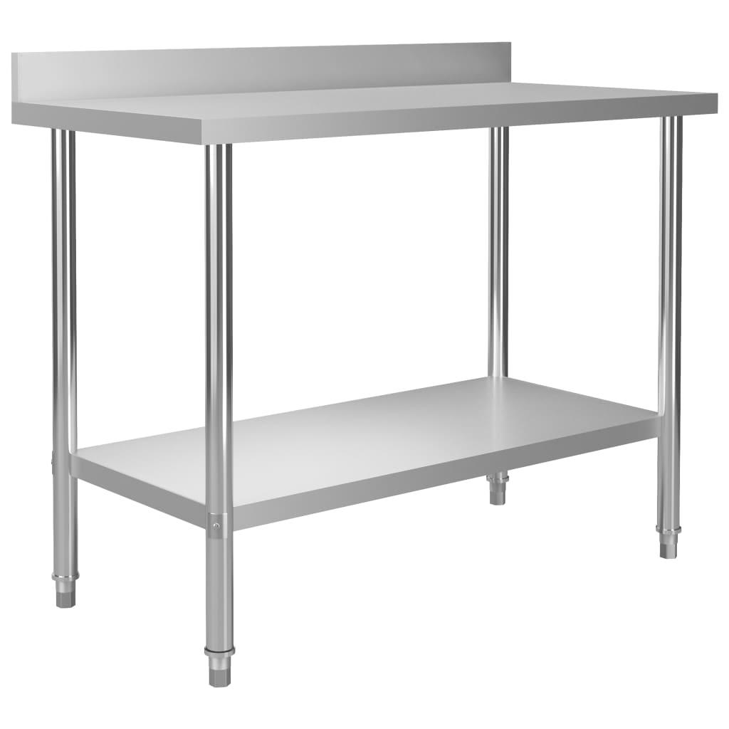 vidaXL Kuchynský pracovný stôl, prístenný 120x60x93 cm, oceľ