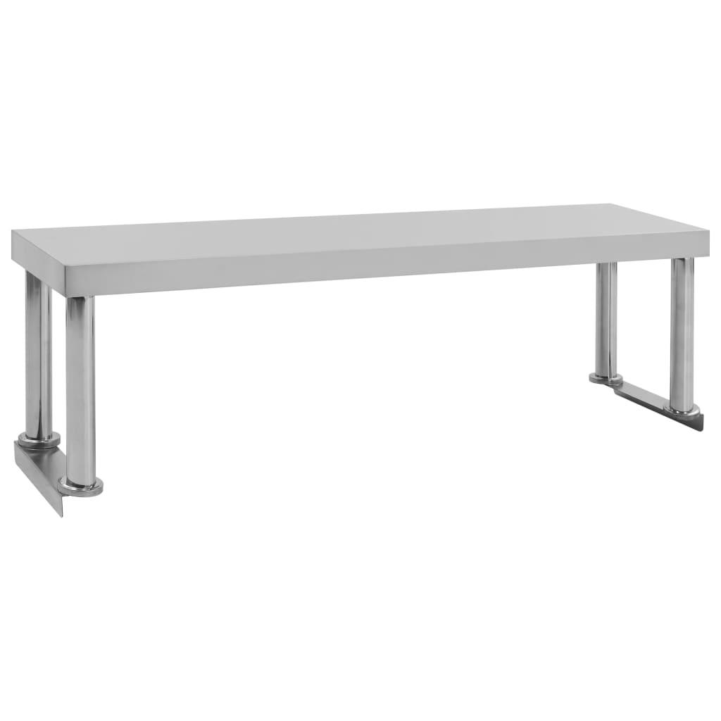 vidaXL Polica na pracovný stôl 120x30x35 cm, nehrdzavejúca oceľ
