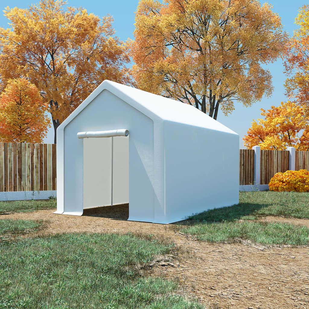 vidaXL Skladovací stan, PE 3x4 m, biely