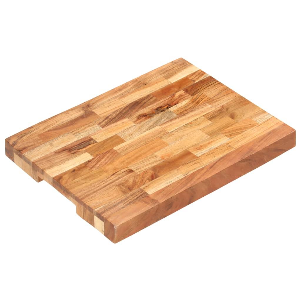 vidaXL Doska na krájanie 40x30x4 cm masívne akáciové drevo
