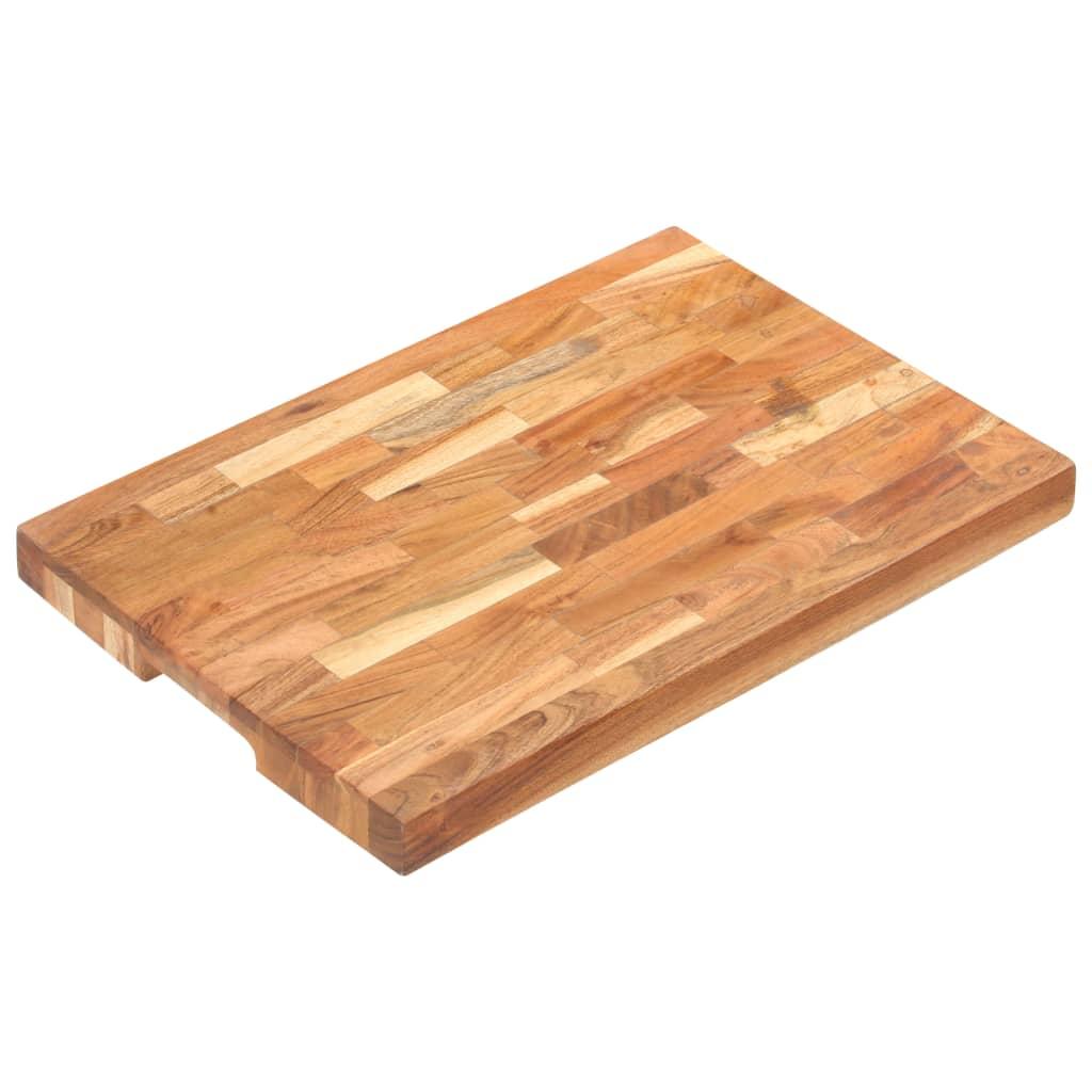 vidaXL Doska na krájanie 50x35x4 cm masívne akáciové drevo