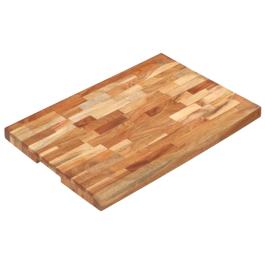 vidaXL Doska na krájanie 60x40x4 cm masívne akáciové drevo