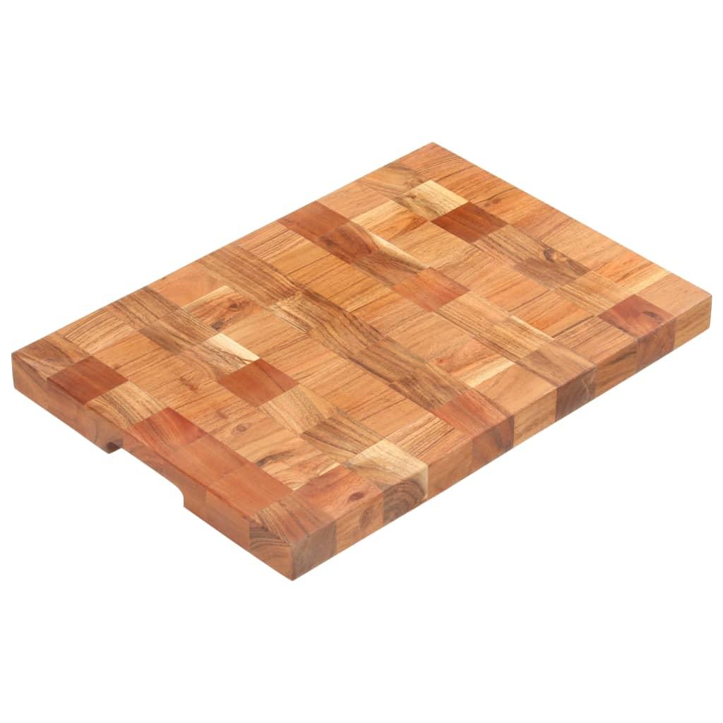vidaXL Doska na krájanie 50x34x3,8 cm masívne akáciové drevo