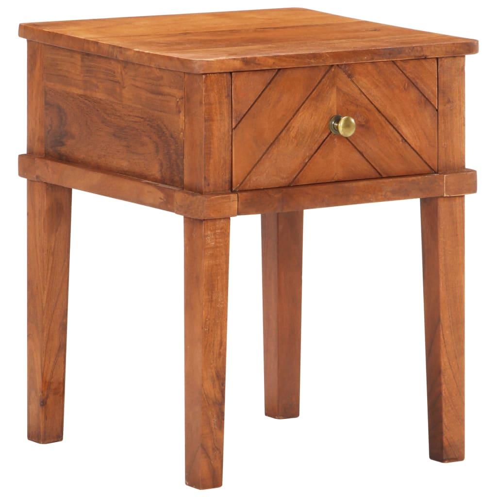 vidaXL Nočný stolík 40x40x50 cm akáciový masív