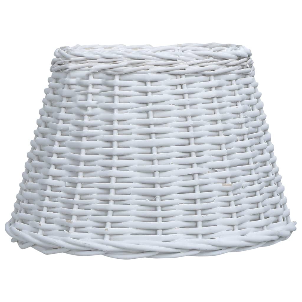 vidaXL Prútené tienidlo pre lampu 38x23 cm biele