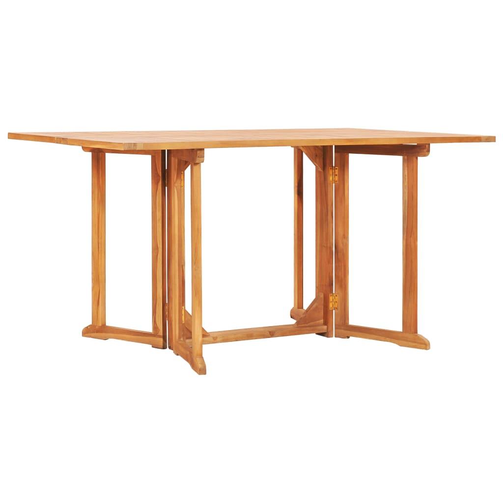 vidaXL Skladací záhradný stôl Butterfly 150x90x75 cm, tíkový masív