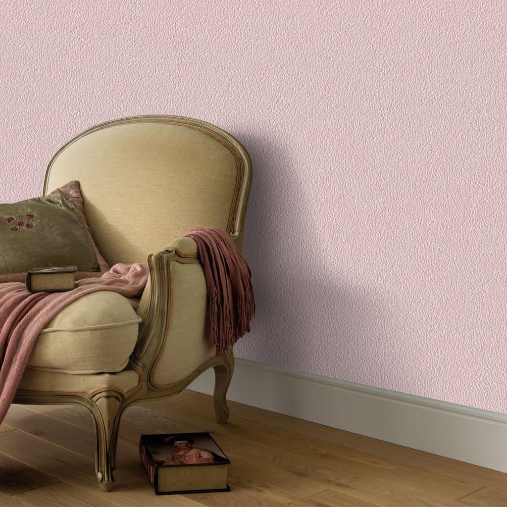 vidaXL Tapetové rolky 4 ks jednofarebné trblietavé ružové 0,53x10 m