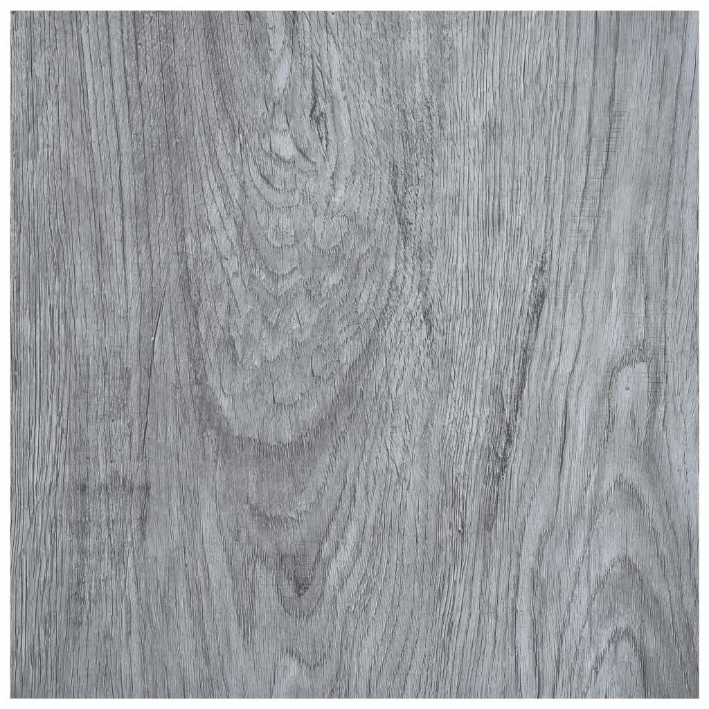 vidaXL Samolepiace podlahové dosky 5,11 m², PVC, svetlosivé