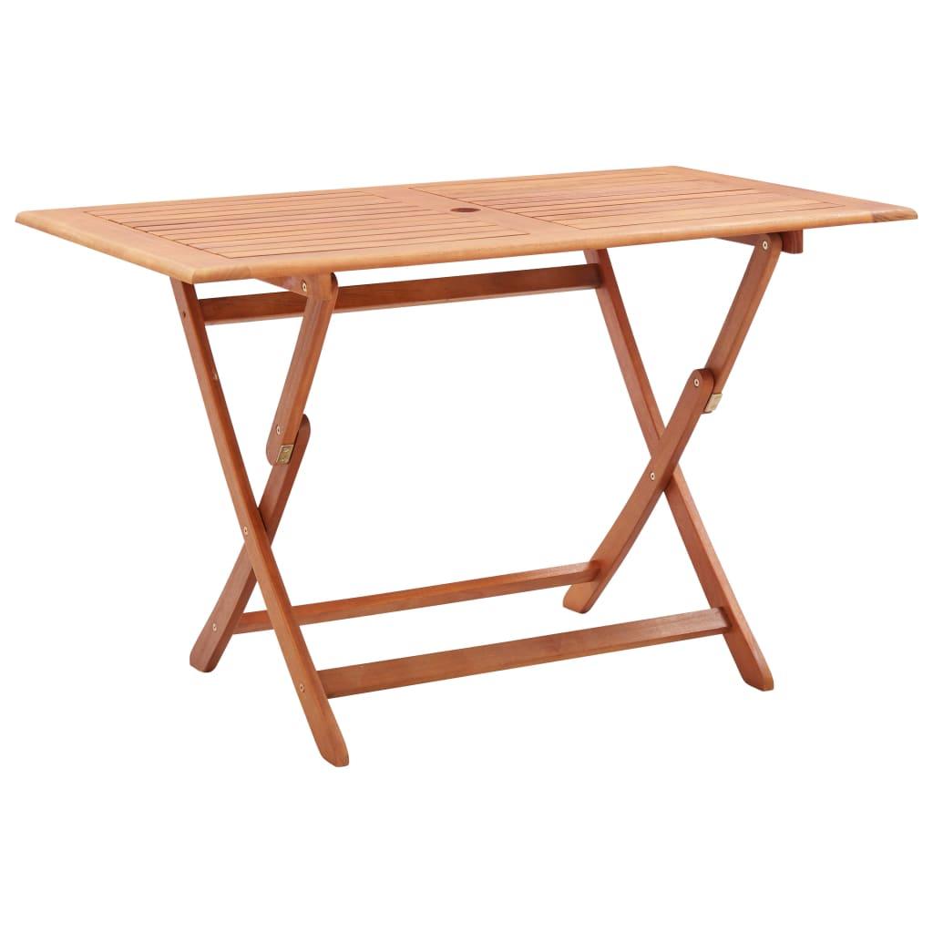 vidaXL Skladací záhradný stôl 120x70x75 cm eukalyptový masív