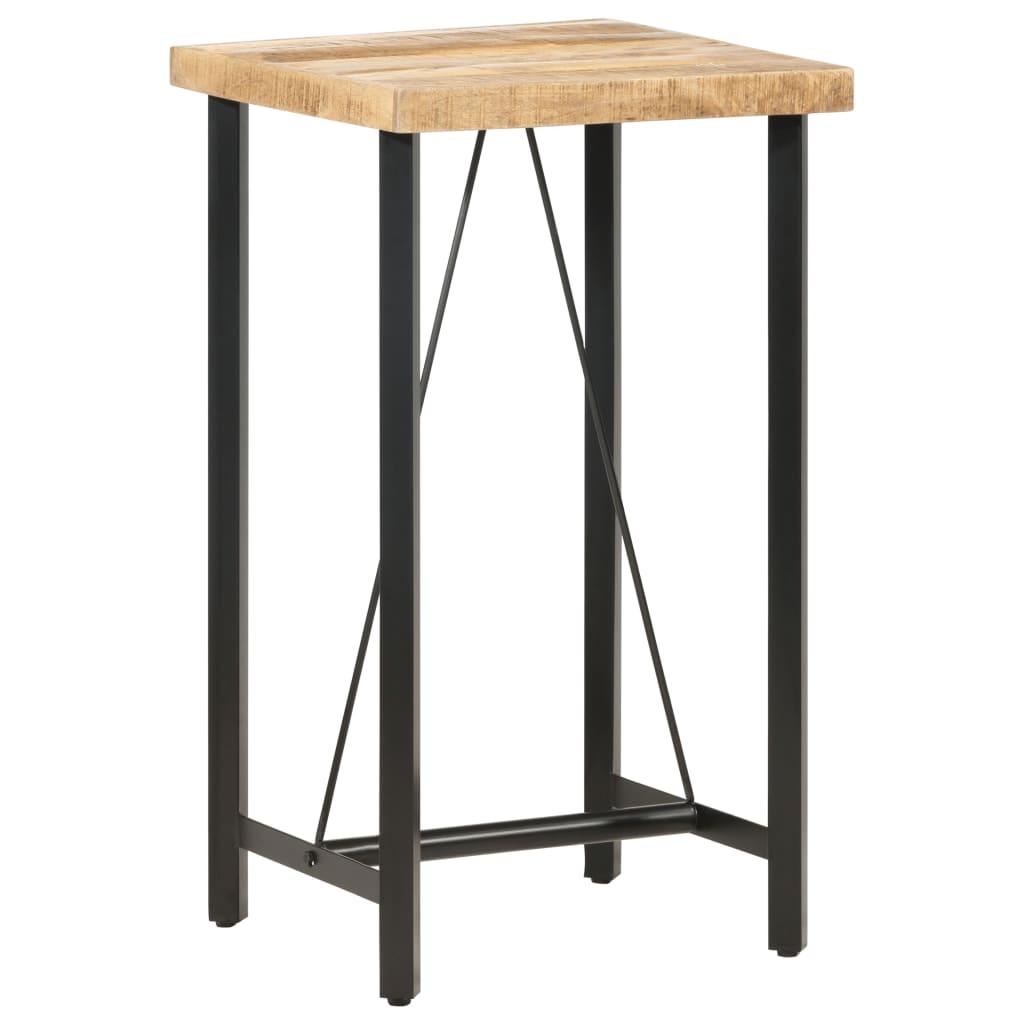 vidaXL Barový stôl 60x60x107 cm masívne mangovníkové drevo